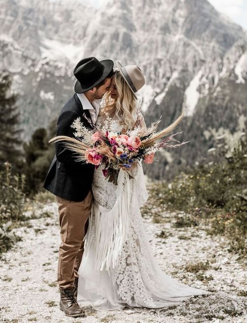 inspiration mariage bohème-chic