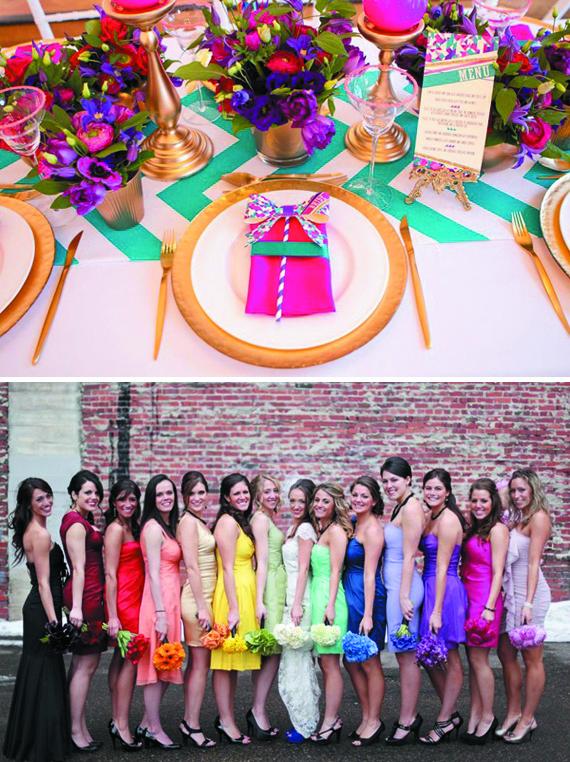 Inspiration mariage multicolore d coration de mariage th mes - Deco table multicolore ...