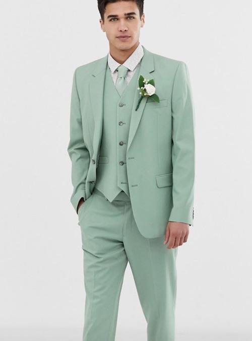 tenue invité mariage vert menthe