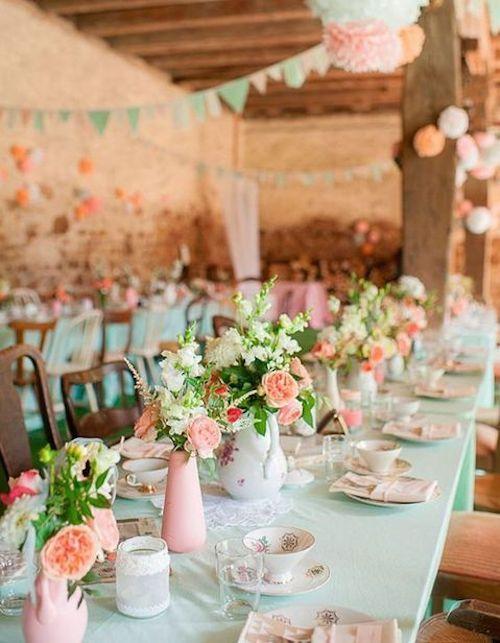 déco table mariage pastel