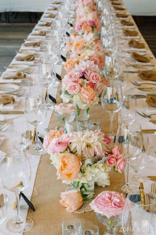 table déco mariage pastel