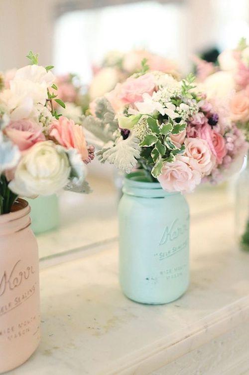 fleurs mariage pastel
