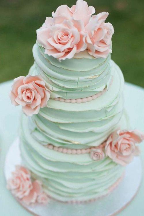 gâteau mariage pastel