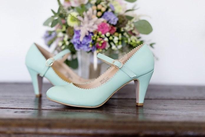 chaussures mariée couleur pastel