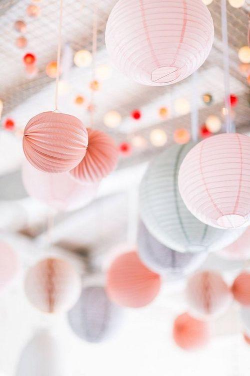 lampions pastel mariage