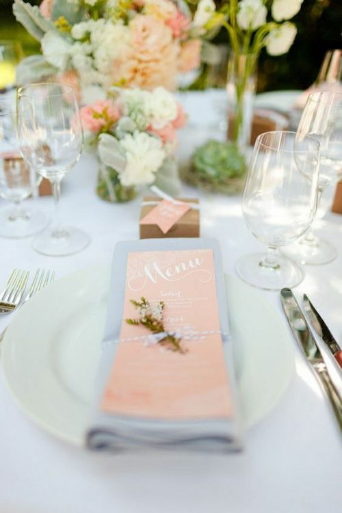 déco table mariage pastel, papeterie mariage pastel