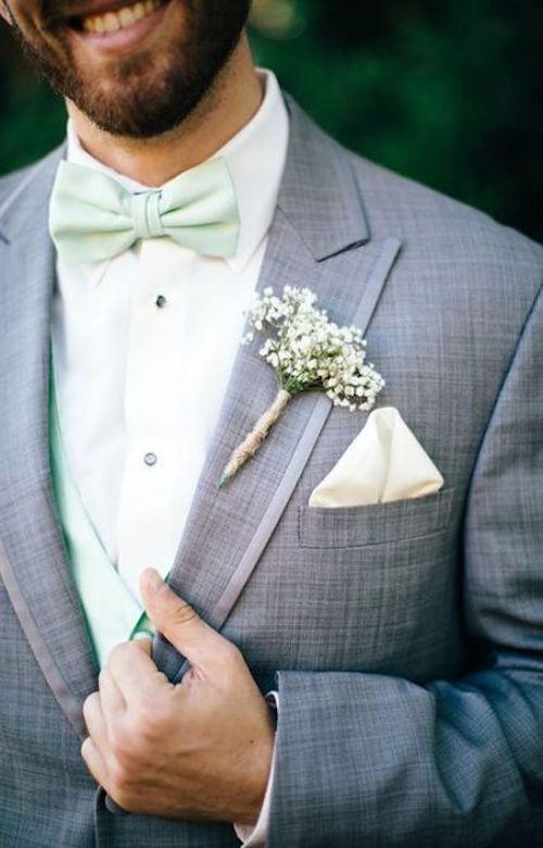 Noeud papillon pastel mariage