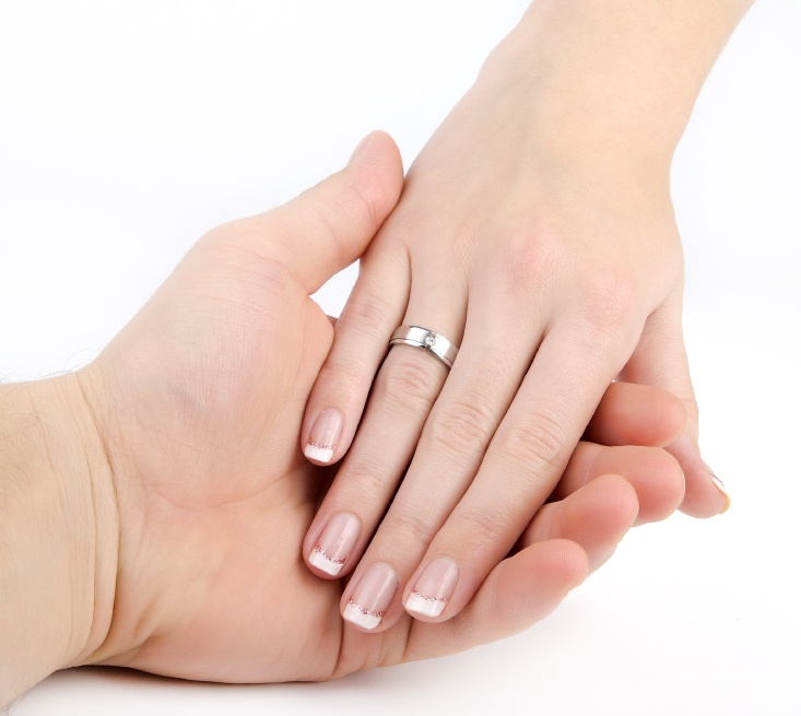French manucure mariage