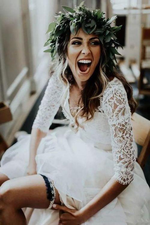 couronne de fleurs mariage