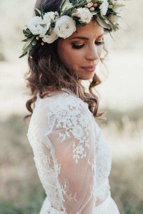 25 couronnes de fleurs mariage tendance