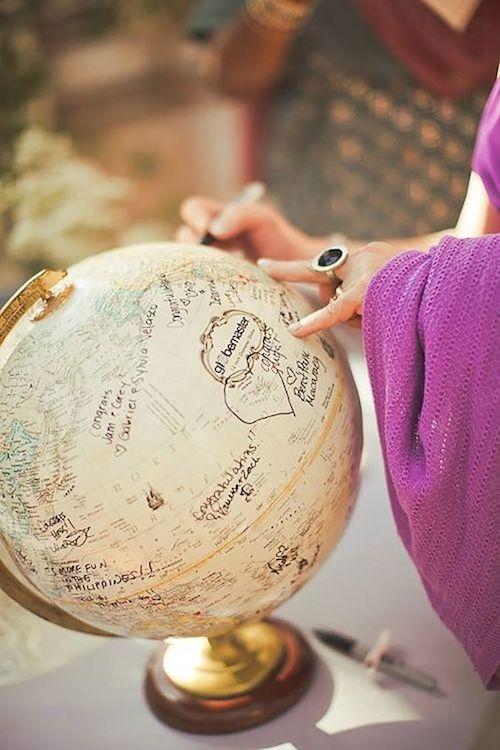décoration mariage sur le thème du voyage