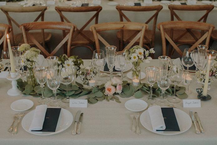 fleurs décoration table mariage
