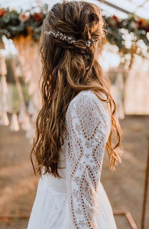 coiffure bohème mariage Pinterest