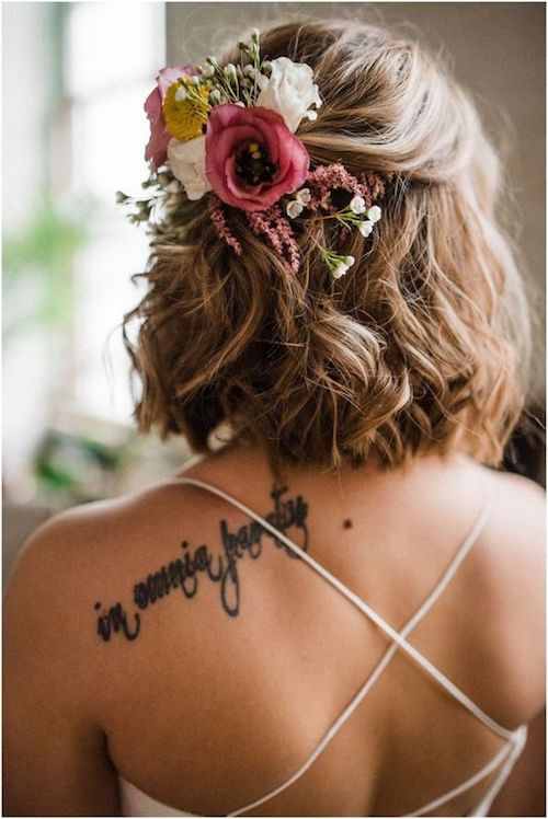 cheveux courts coiffure mariage Pinterest