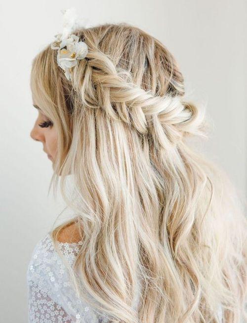cheveux lâchés coiffure mariage Pinterest
