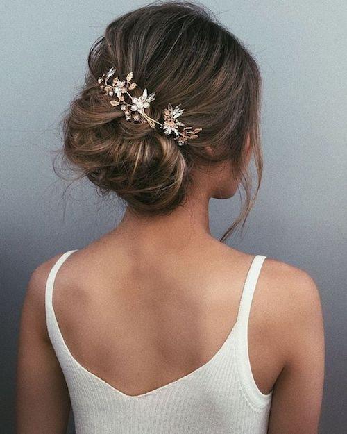chignon coiffure mariage Pinterest