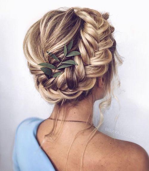 tresse coiffure mariage Pinterest
