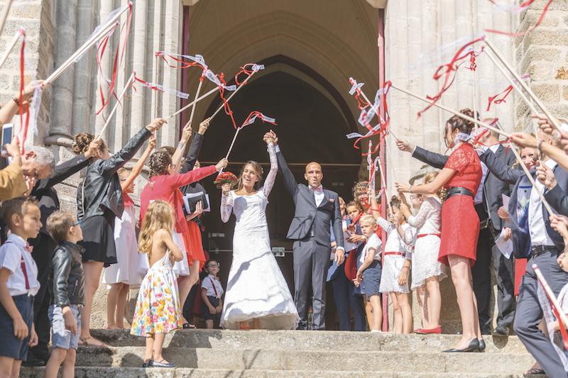 sortie église mariage, vrai mariage