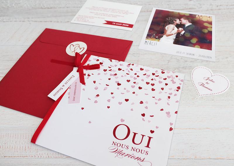 faire-part mariage tadaaz, annonce mariage papeterie