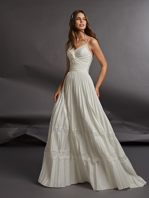 robe de mariée en taffetas