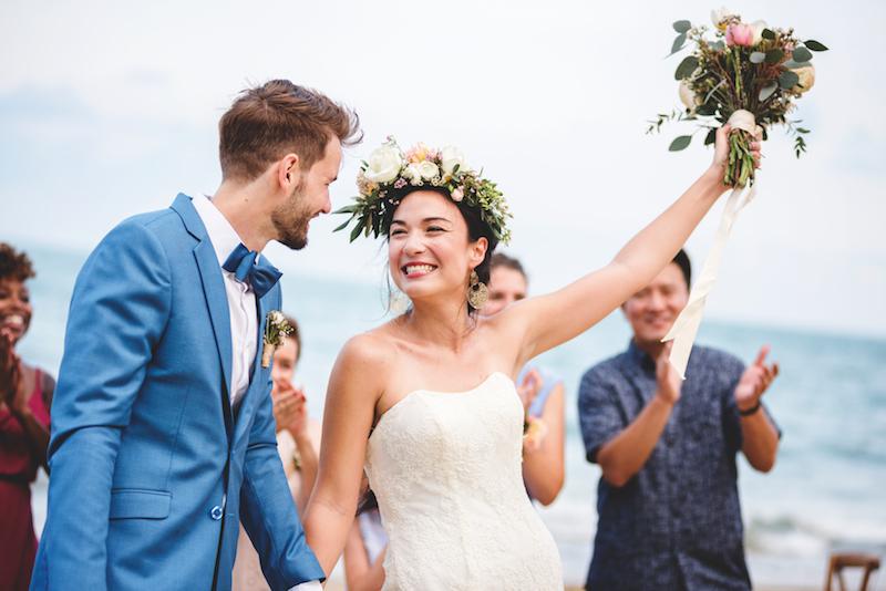 lancer du bouquet de la mariée, tradition mariage