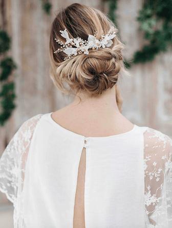 peigne coiffure mariée, mariage