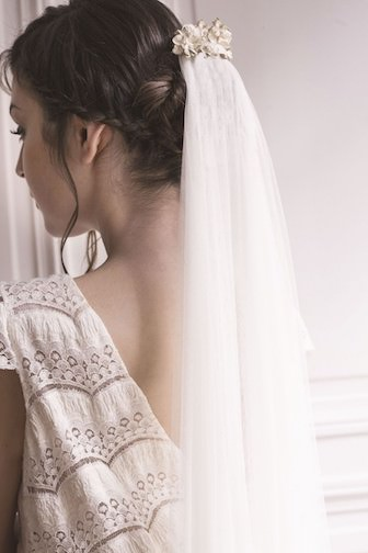 voile mariage, accessoire coiffure mariage