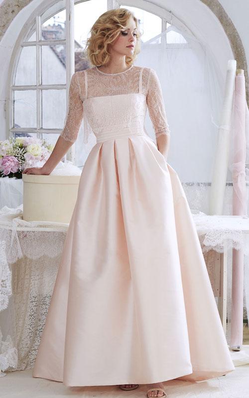 robe de mariée rose poudré, robe de mariée colorée 2019 Atelier Emelia