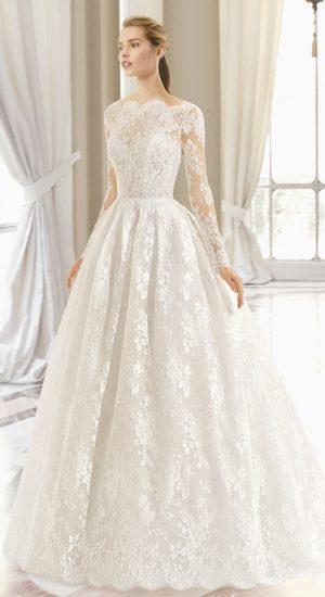 robe de mariée princesse en dentelle Rosa Clara 2019