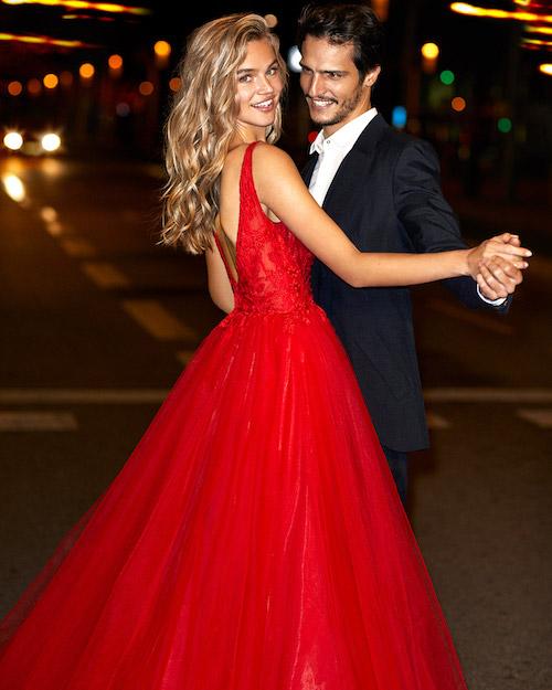 robe de mariée rouge 2020