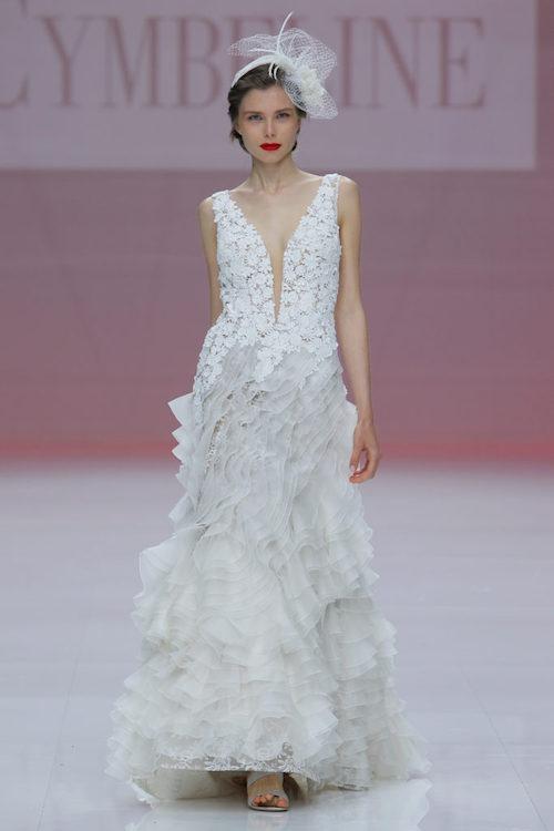 robe de mariée à volants, tendance 2019 froufrous, Cymbeline