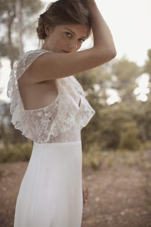 robe de mariée manches à volants, mariage 2019 Donatelle Godart