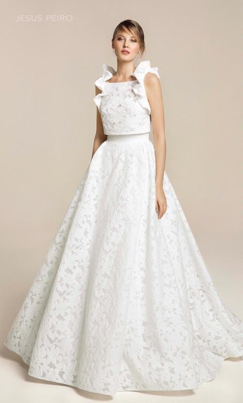robe de mariée manches à volants Jesus Peiro 2019