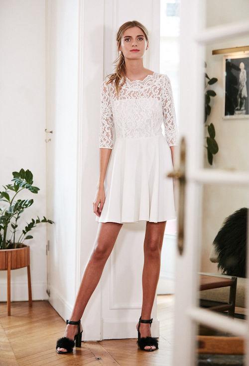 robe de mariée en dentelle à petit prix, Claudie Pierlot
