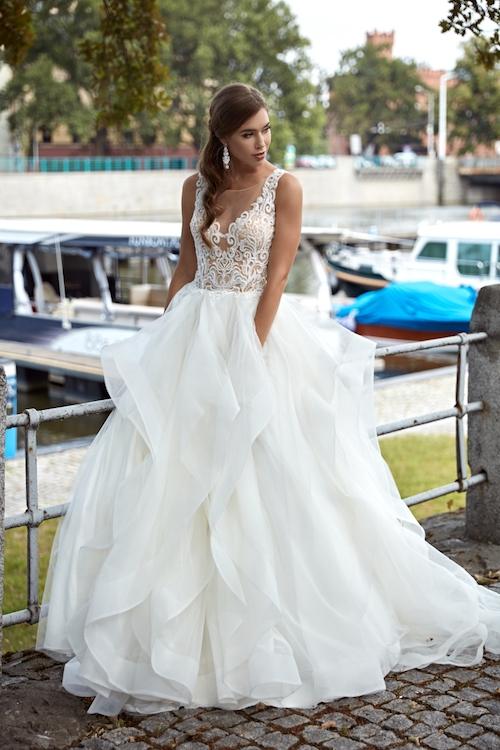 robe de mariée à volants Annais Bridal