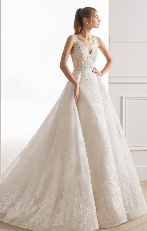 robe de mariée dentelle coupe princesse Aire Barcelona