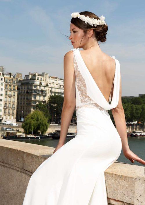 robe de mariée dos nu 2019 Cymbeline