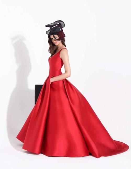 robe de mariée rouge, Cymbeline collection 2019