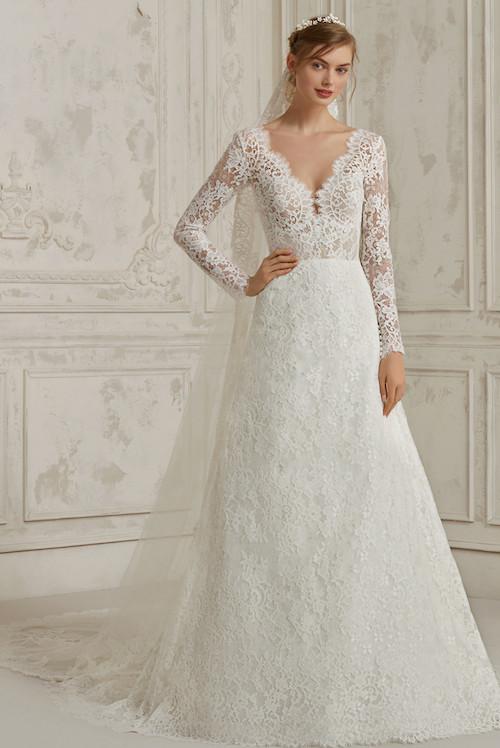 robe de mariée princesse en dentelle pronovias 2019