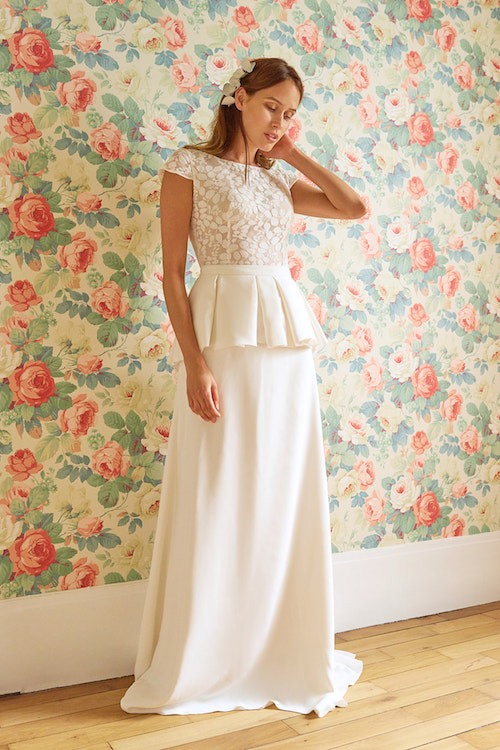 robe de mariée à volants Maison floret 2019