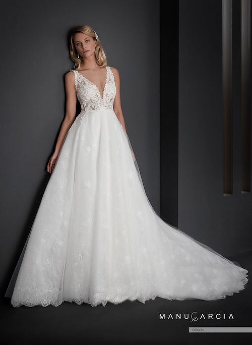 robe de mariée princesse en dentelle