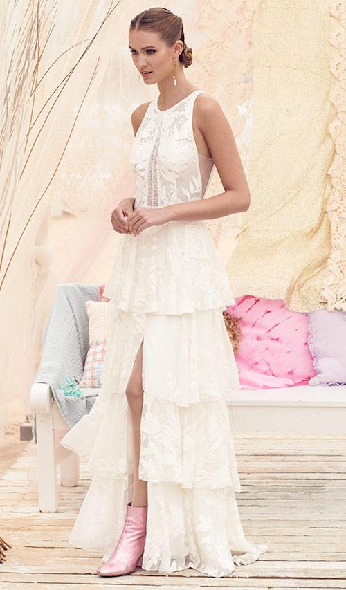 robe de mariée remboursés styling avec jupe à volants