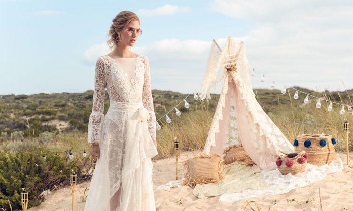 robe de mariée bohème en dentelle, top robes de mariée. Rembo Styling