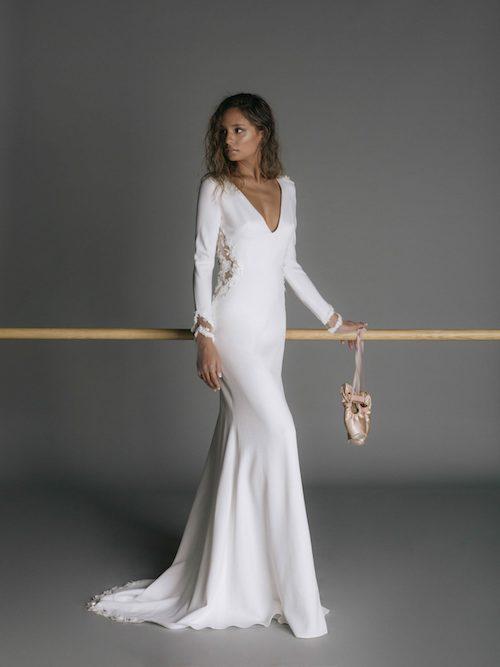 robe de mariée manches longues 2019