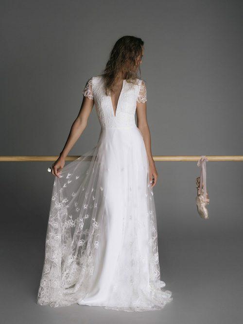 Robe de mariee romantique en tulle