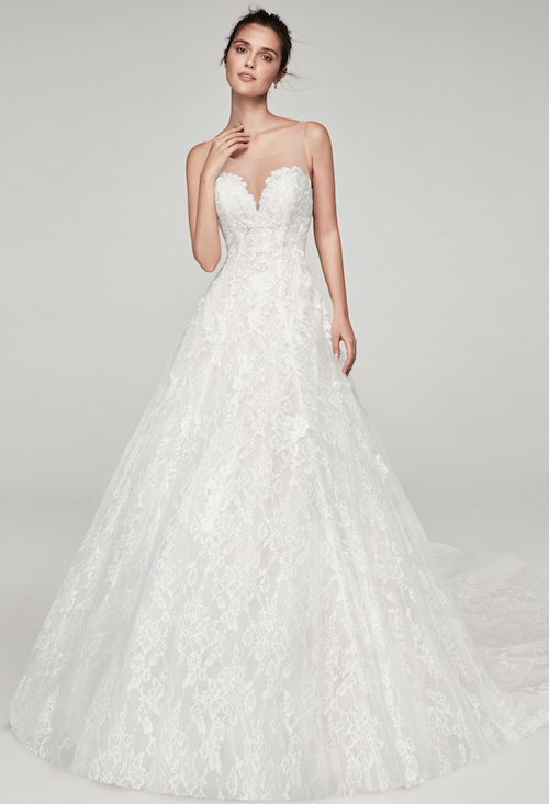 robe de mariée princesse en dentelle alma novia