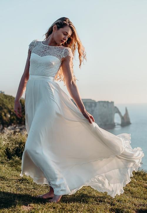 robe de mariée romantique Adeline Bauwin 2019