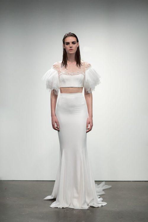 robe de mariée avec manches à volants 2019 Rime Arodaky