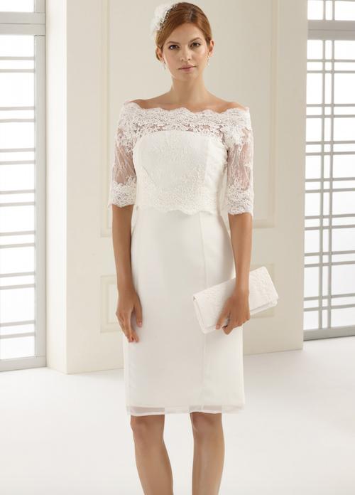 robe de mariée courte Bianco Evento collection 2019