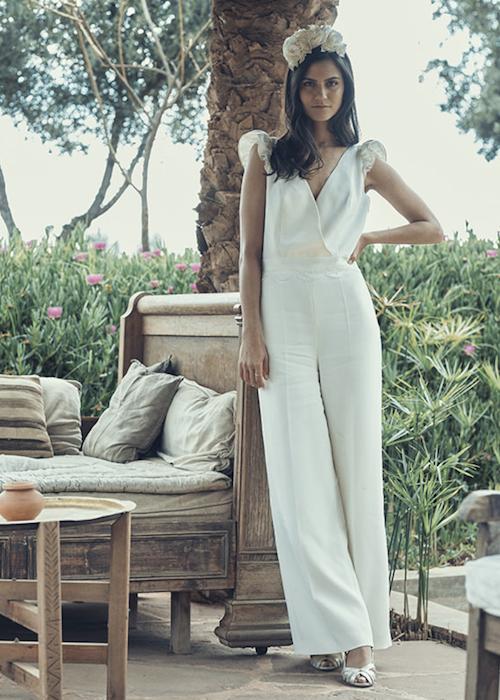 combinaison pantalon mariage, tendance mariage 2019 Laure de Sagazan
